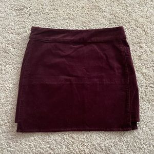 Dark maroon mini skirt
